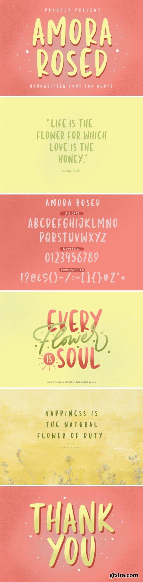 Amora Rosed Font