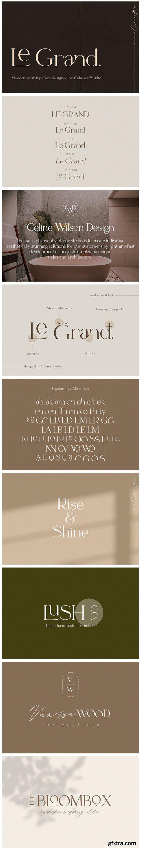 CM - Le Grand | Serif Ligature Font 4651331