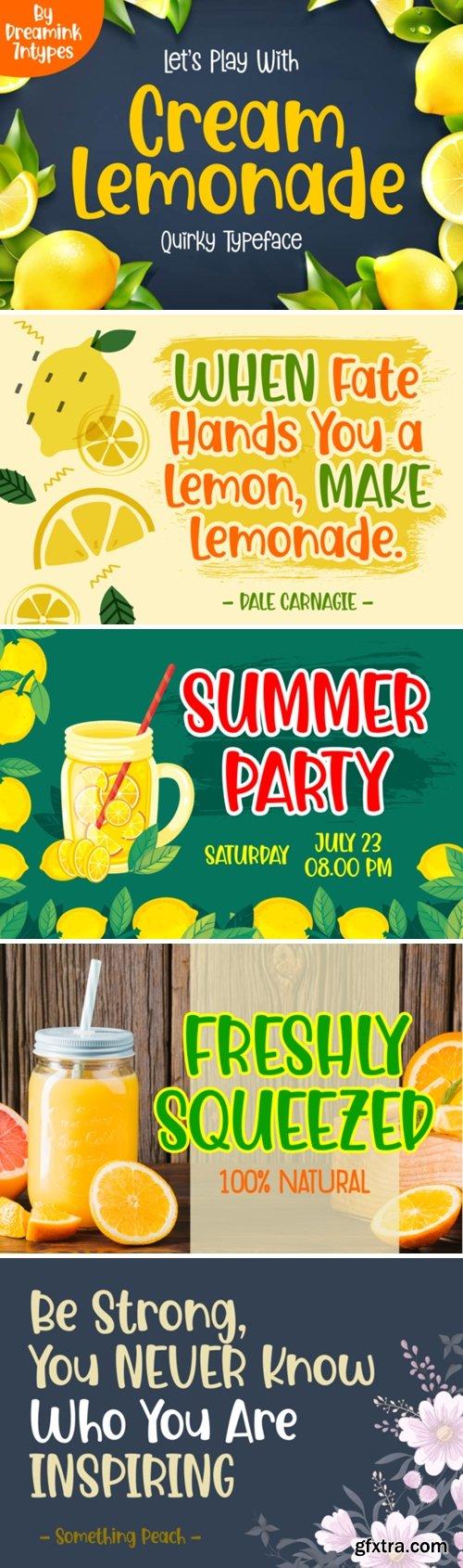 Cream Lemonade Font