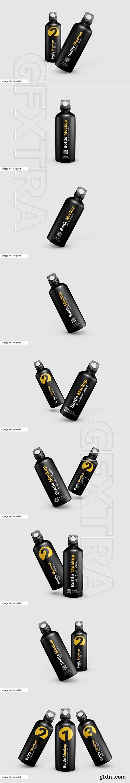 Sporty water bottle mockup