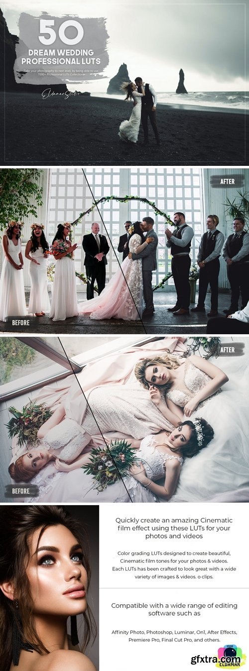50 Dream Wedding LUTs Pack