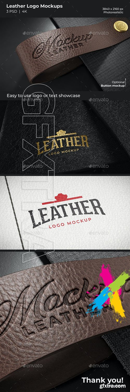 GraphicRiver - Leather Logo Mockups 29703619