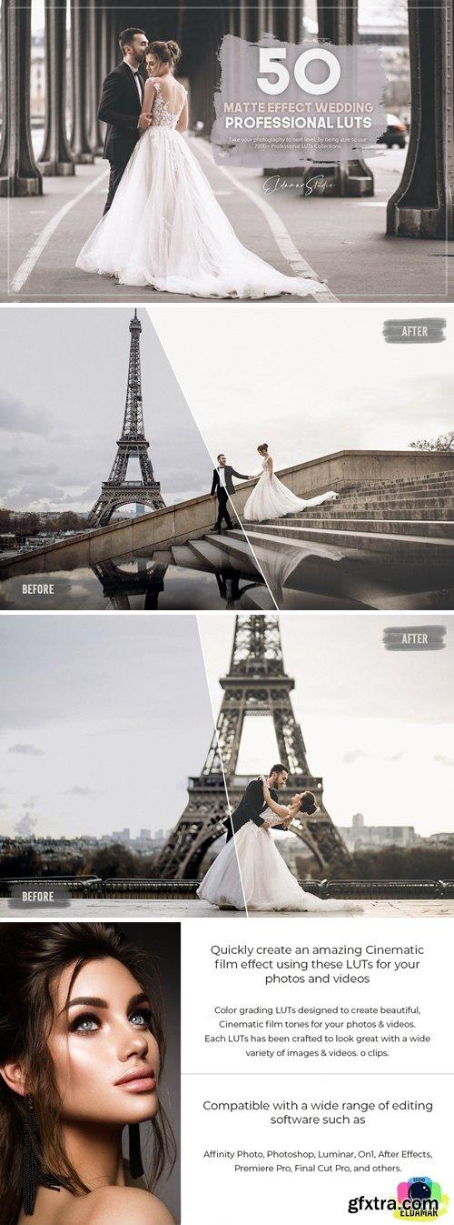 50 Matte Effect Wedding LUTs Pack