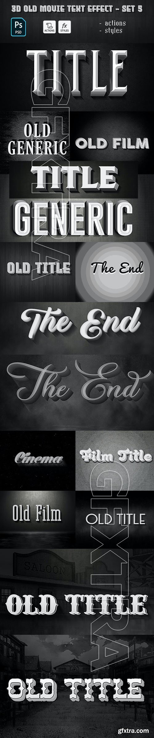 GraphicRiver - Old Movie Text Effect 29885827