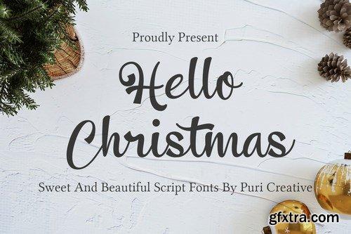 Hello Christmas - Sweet & Beautiful Script Font