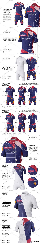 CreativeMarket - Men\'s Cyling Jersey Kit Mockup 5599280