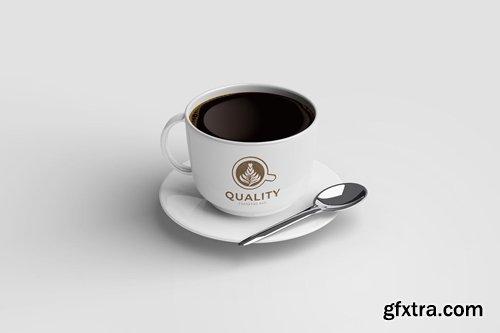 Black Coffee Cup - Mockup Template