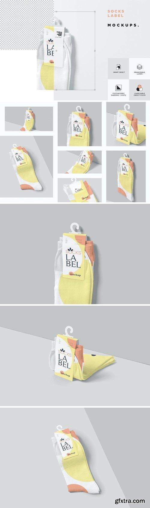 Socks Label Tag Mockups