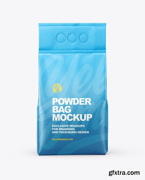 Matte Powder Bag Mockup 73066