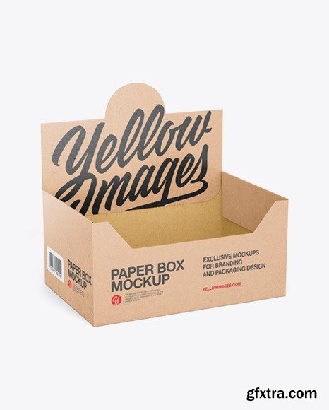 Empty Kraft Display Box Mockup 73027