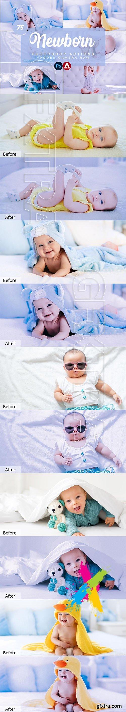CreativeMarket - Newborn Photoshop Actions 5733429
