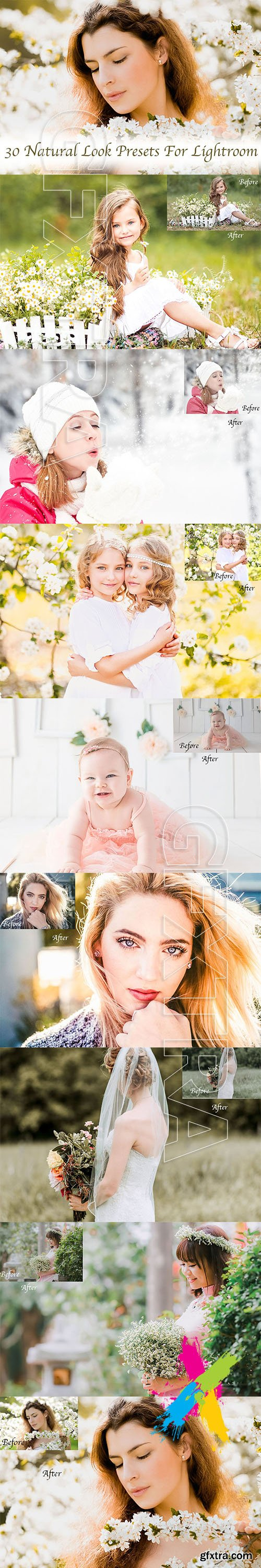 CreativeMarket - 30 Natural Look Presets for Lightroom 5747300