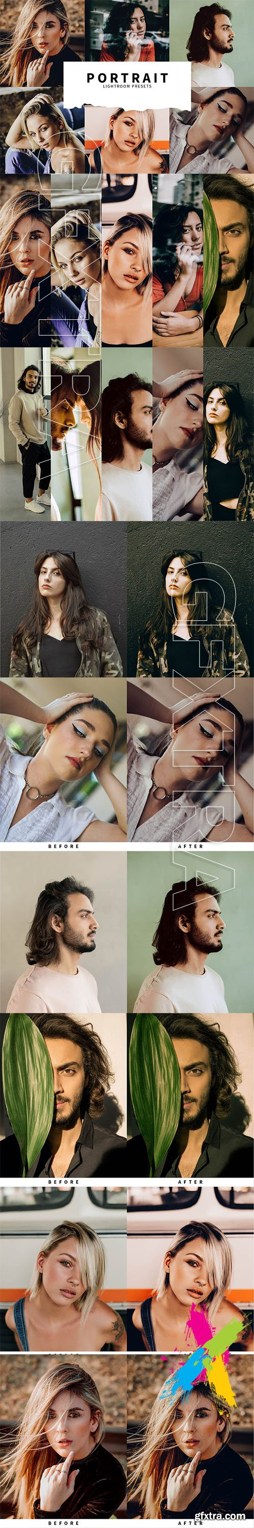 CreativeMarket - 10 Portrait Lightroom Presets 5748485
