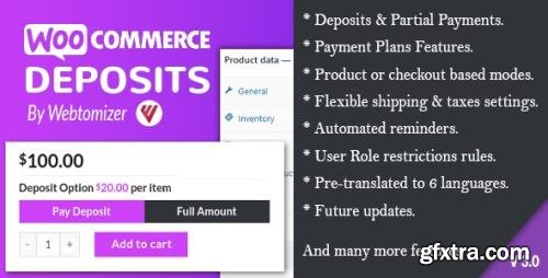CodeCanyon - WooCommerce Deposits v3.0.0 - Partial Payments Plugin - 9249233