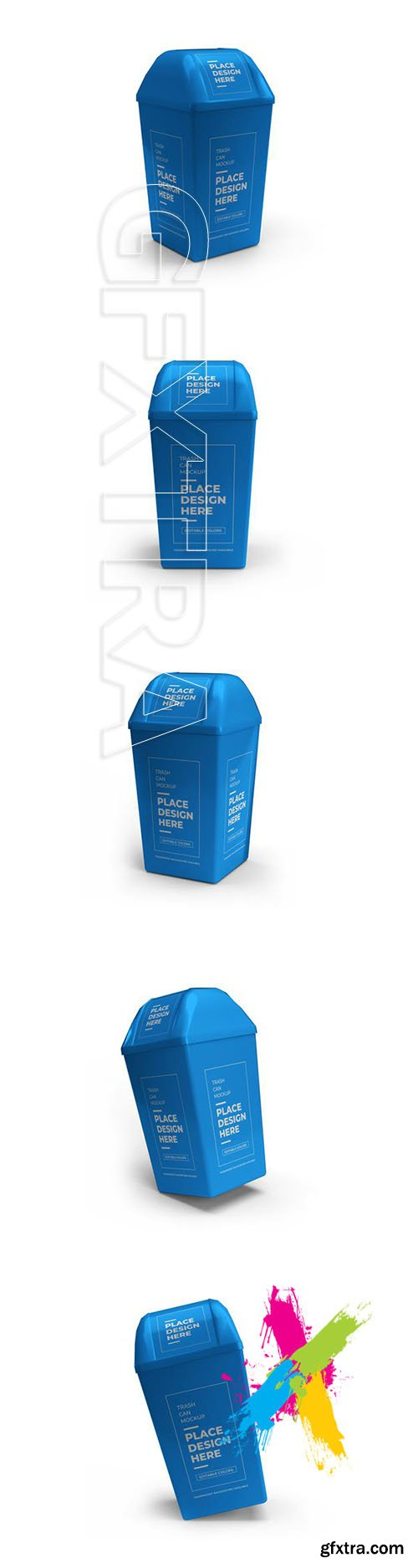 Trash can mockup