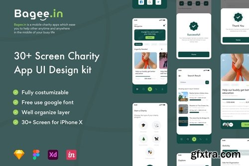 Bagee.in - Charity Apps UI Kit