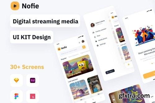Nofie - Movie Streaming Apps UI KIT
