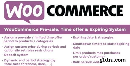 CodeCanyon - WooCommerce Pre-sale, Time offer & Expiring System v9.7 - 13335433 - NULLED