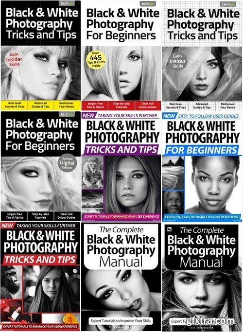 Black & White Photography The Complete Manual,Tricks And Tips,For Beginners - Full Year 2020 Collection