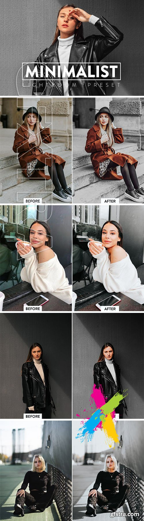 CreativeMarket - 10 MINIMAL Lightroom Mobile Presets 5748193