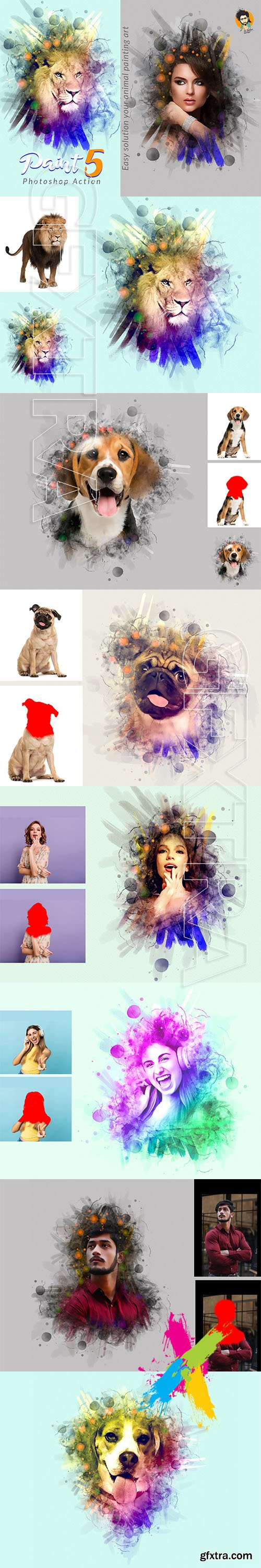 CreativeMarket - Paint Photoshop Action 5 5751430