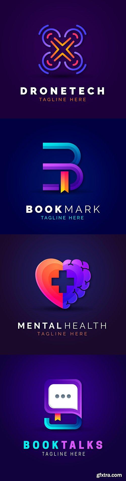 Creative gradient logo template design brand name
