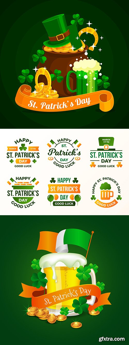 St. Patrick's Day design vector party illustrations
