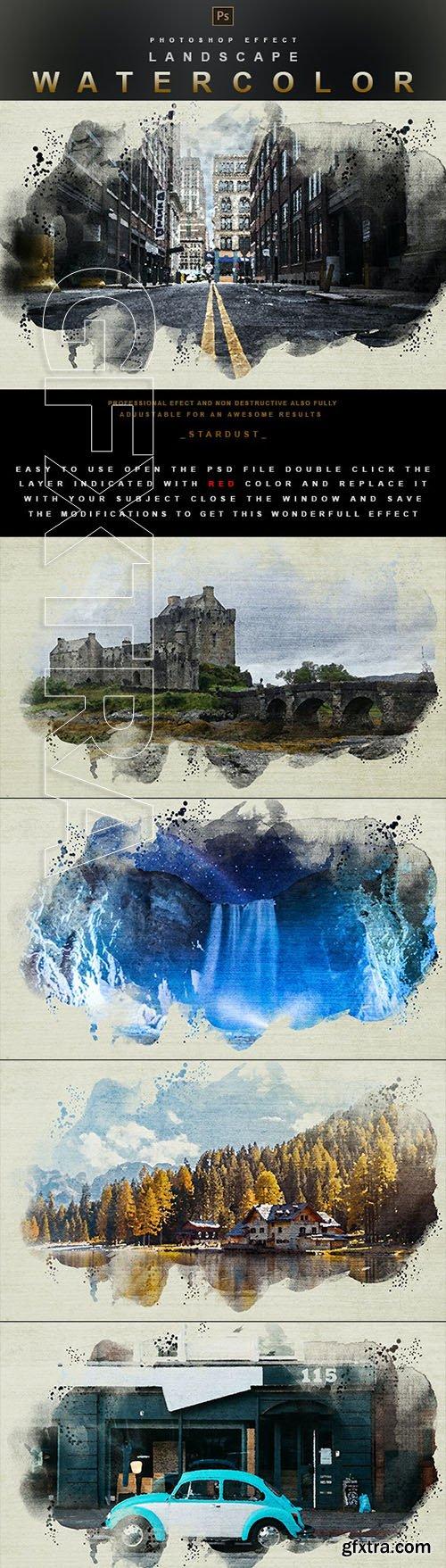 GraphicRiver - Landscape Watercolor - Photoshop Effect 29914082