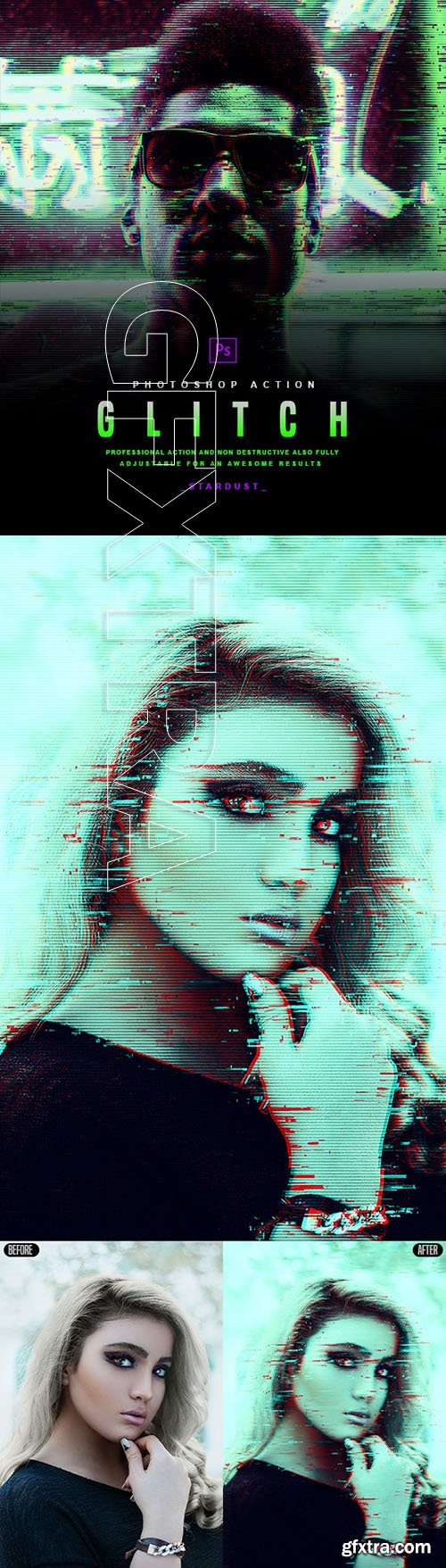 GraphicRiver - Glitch - Photoshop Action 29906864
