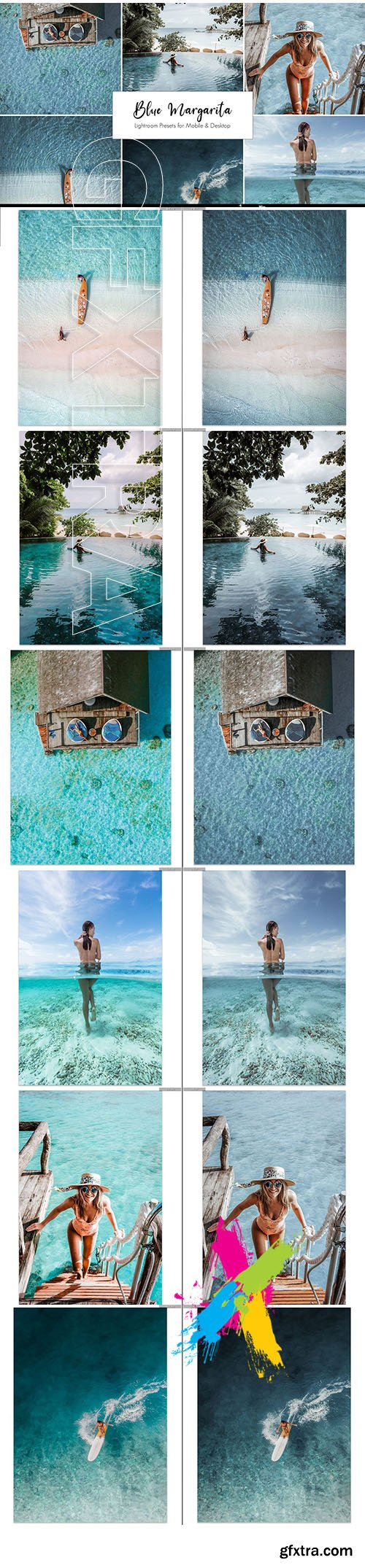 CreativeMarket - Blue Margarita Lightroom Presets 5421116