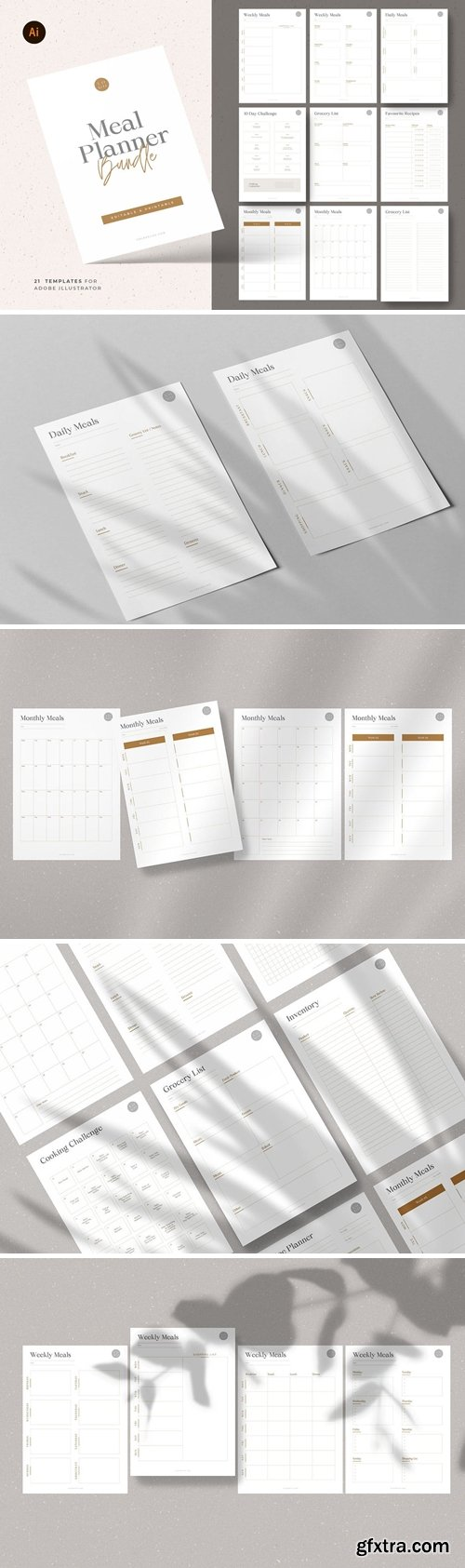 Meal & Grocery Planner Templates