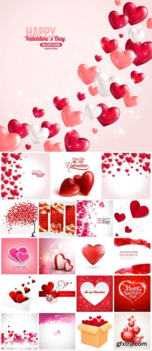 Valentine's day, romantic elements in vector