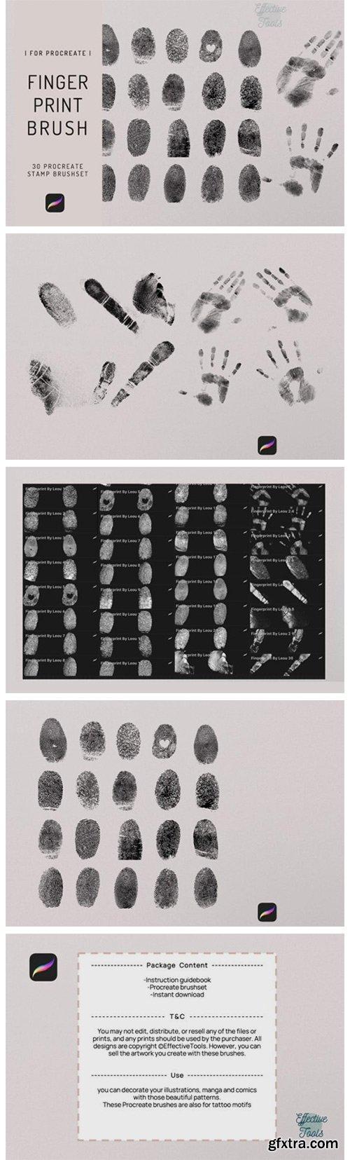 30 Procreate Fingerprint Stamp Brush 7720706