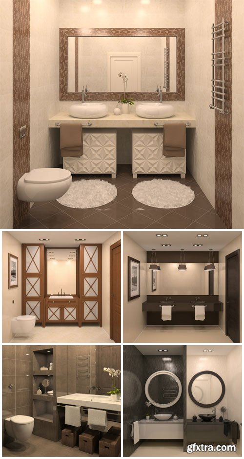 Bathroom interior modern stock photo