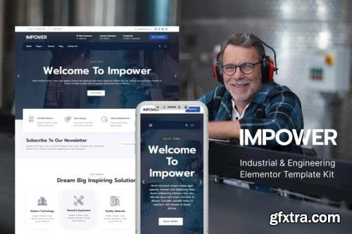 ThemeForest - Impower v1.0.0 - Engineering and Industrial Template Kit - 30048604