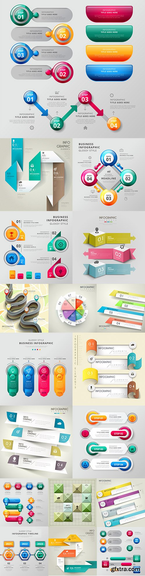 Infographics business options elements collection 12