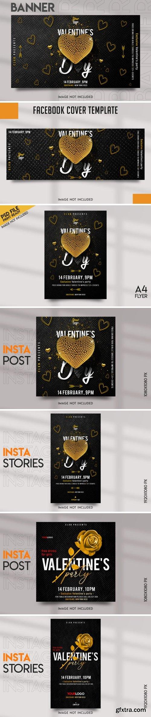 Valentine\'s Party Social Media Template