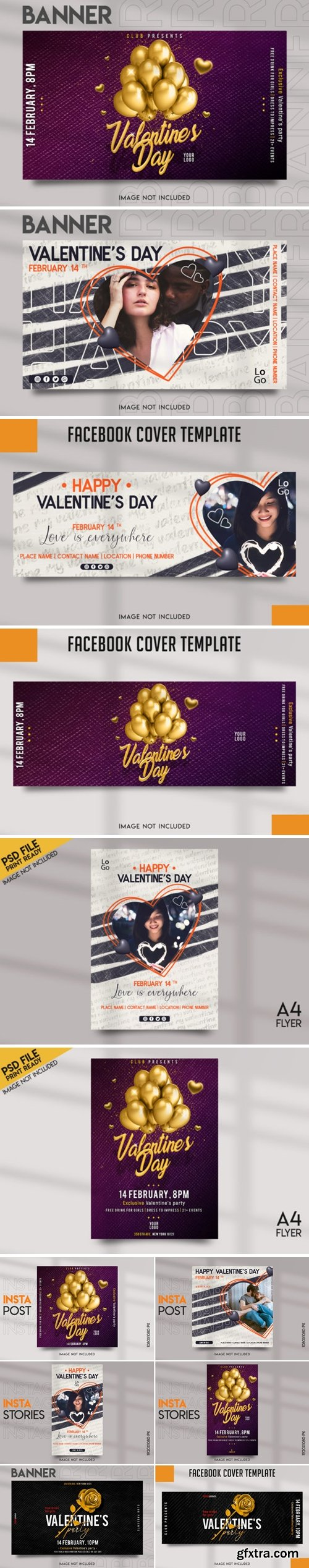 Valentine\'s Day Social Media Template Pack