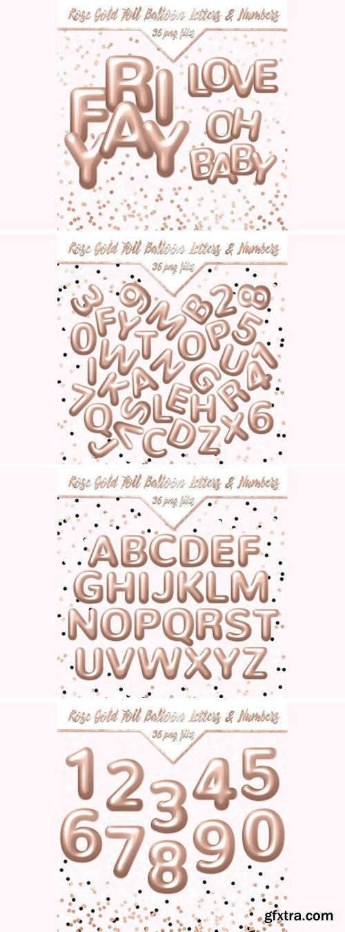 Rose Gold Foil Balloon Letters & Numbers 7881601