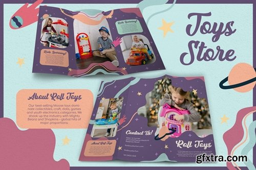 Abstract Galaxy Toys Store - Brochure