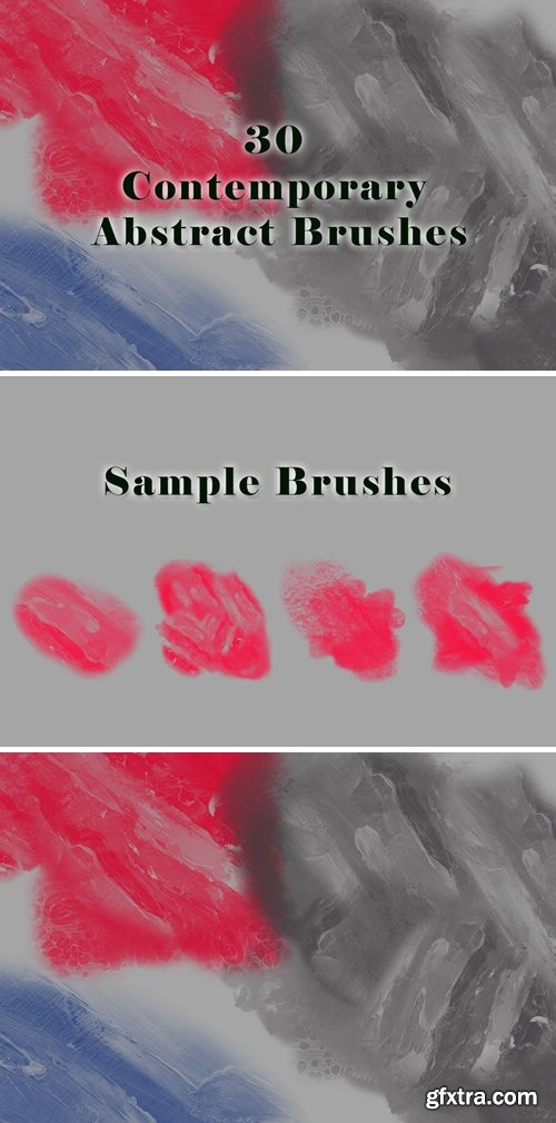 30 Contemporary Abstract Brushes