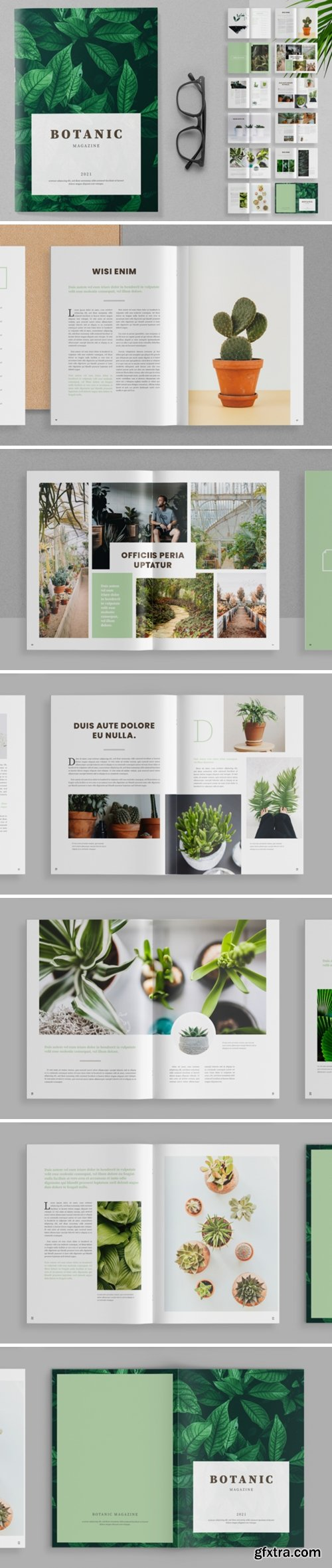 Botanic Magazine Template 7857992