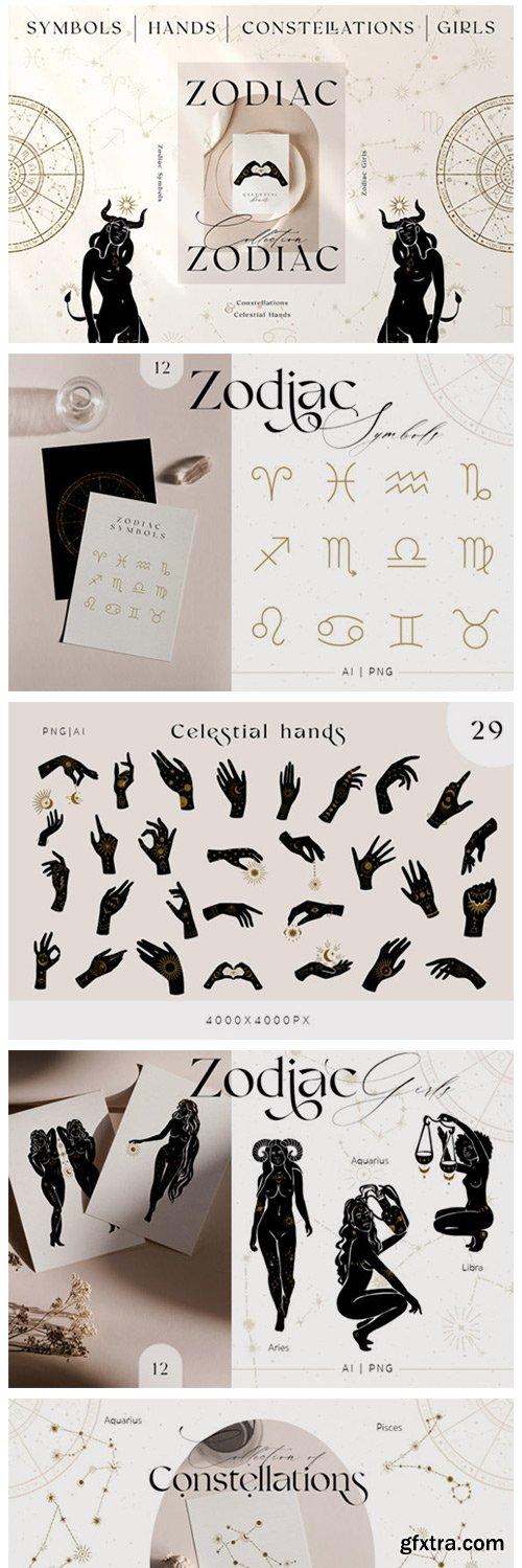 Zodiac Celestial Constellations Set 7881330