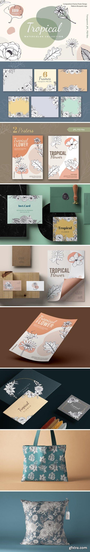 Tropical Vibes Line Art Unique 7854532