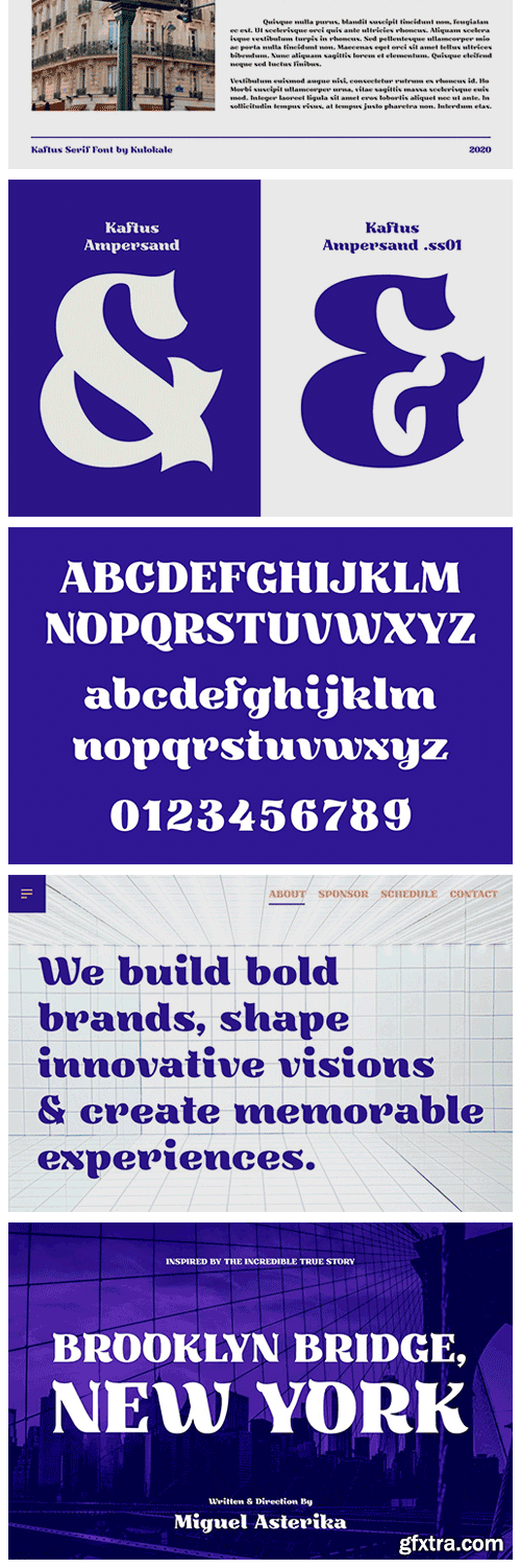 CM - Kaftus Display Serif Font 5741561