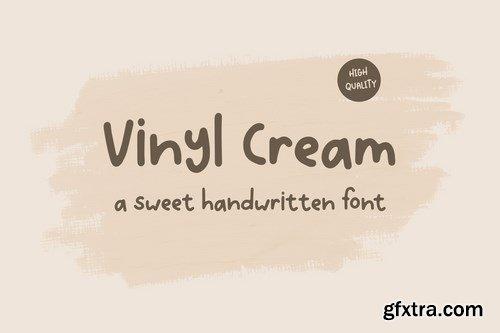 Vinyl Cream - A Sweet Handwritten Font