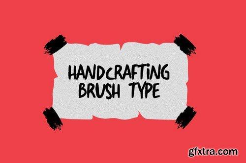 Berantakan Brush Typeface
