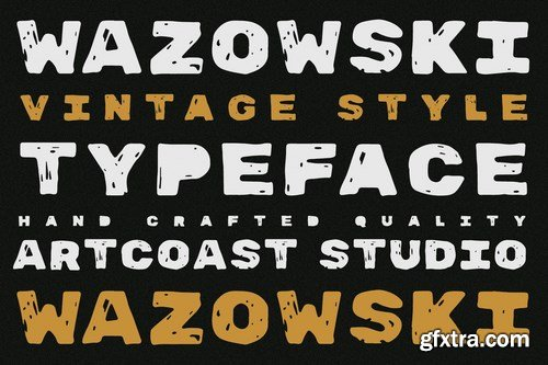 Wazowski - Bold Rough Typeface