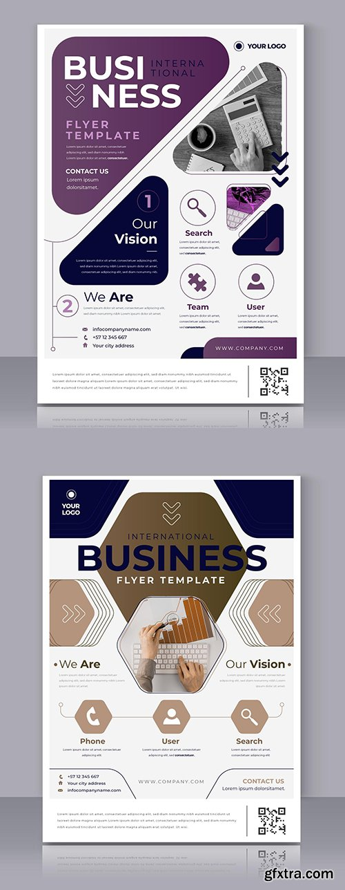 Business poster modern template for printing