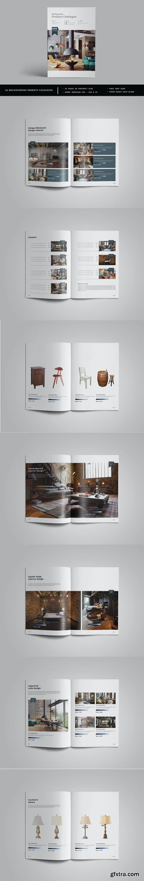 A5 Multipurpose Catalogs / Brochure Template